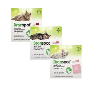 kat ontwormen met dronspot